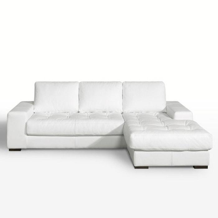 Image Canapé d'angle, fixe,confort excellence, coussins cuir véritable, Arlon La Redoute Interieurs