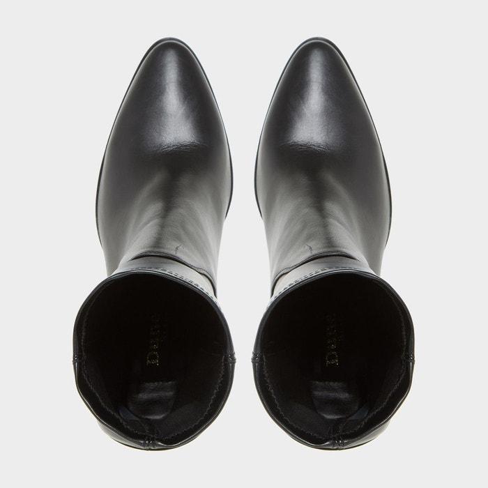 Bottines ajustées à bout pointu - padock noir synthétique Dune Black