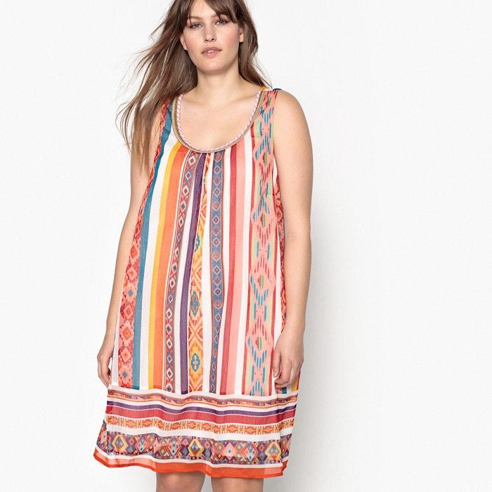 Short Printed Sleeveless Flared Dress  CASTALUNA image 0