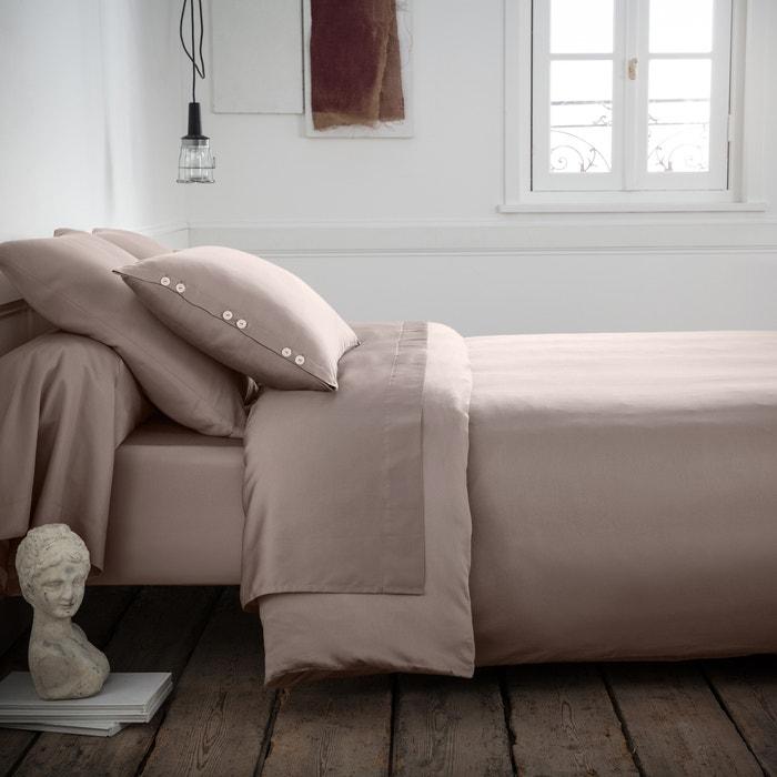 housse de couette satin de coton tissage uni la redoute interieurs la redoute. Black Bedroom Furniture Sets. Home Design Ideas