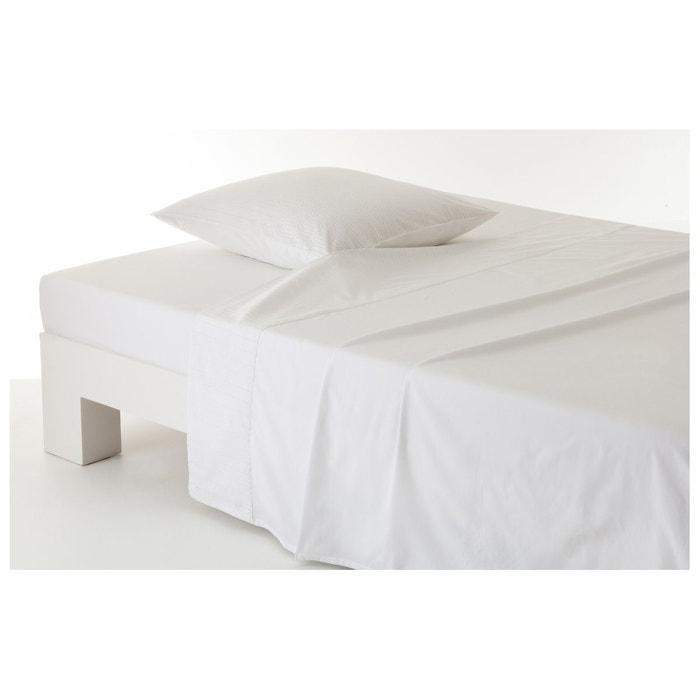 drap plat retro white blanc anne de solene la redoute. Black Bedroom Furniture Sets. Home Design Ideas
