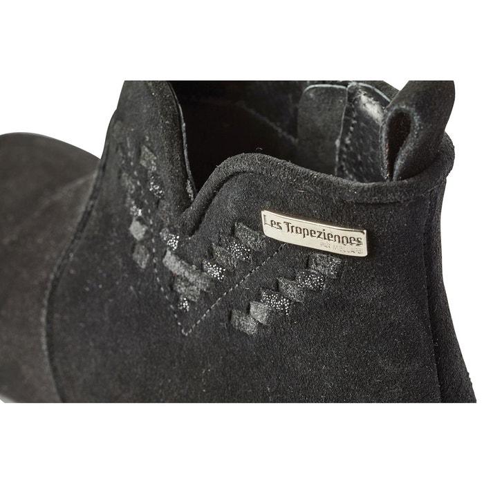 Boots cuir platine noir Les Tropeziennes Par M Belarbi