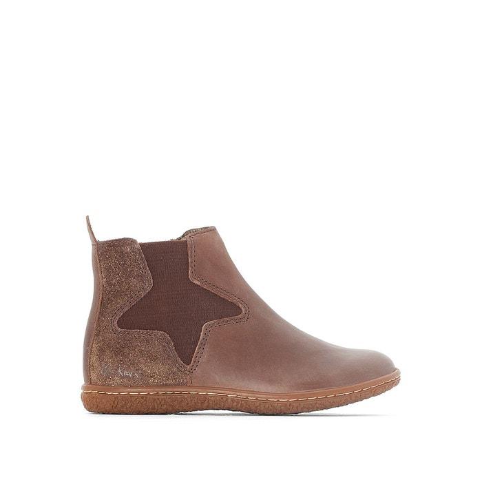 5ac7664f399d8 Boots cuir vermillon Kickers