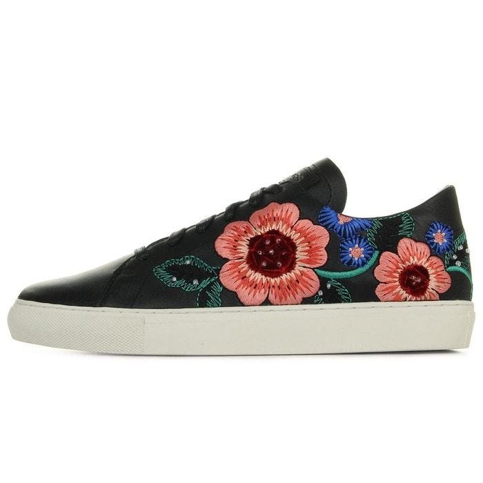 Baskets femme vaso flor noir/rose/vert Skechers