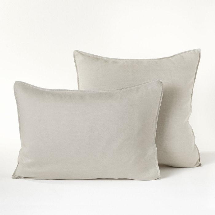 taie d 39 oreiller chanvre lav helm am pm la redoute. Black Bedroom Furniture Sets. Home Design Ideas