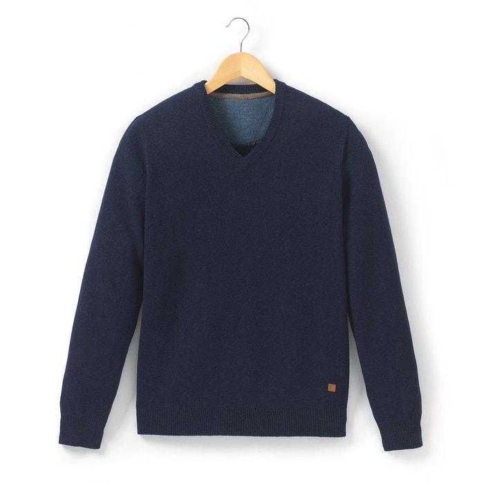 Image Pull col V, pure laine d'agneau R essentiel