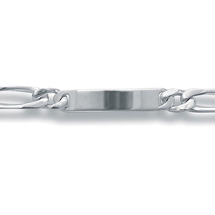 Bracelet 21 cm identité gourmette 1 + 1 largeur 9 mm argent 925 couleur unique So Chic Bijoux | La Redoute Expédition Rapide 9xL9m3