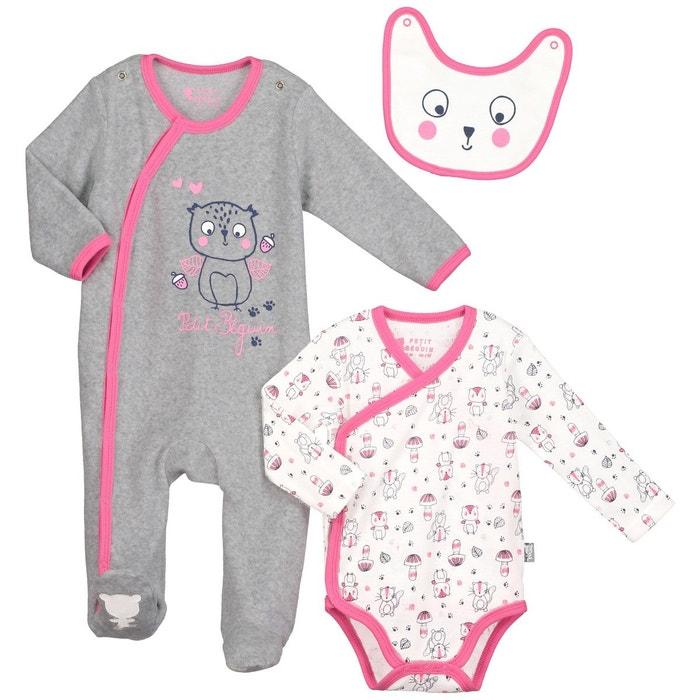 kit naissance b b fille petite for t gris petit beguin la redoute. Black Bedroom Furniture Sets. Home Design Ideas