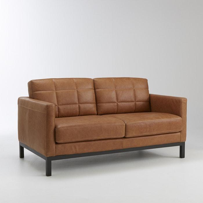 afbeelding Vaste 2-zit canapé in leer, Itri La Redoute Interieurs
