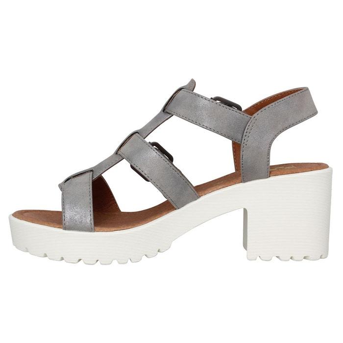 Sandales talons femme no name tango sandal glow femme acier acier No Name