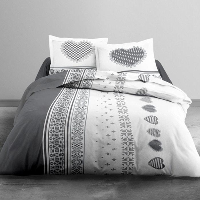 Parure drap plat 100% coton flanelle avoriaz