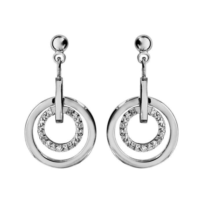 Boucles d'oreilles anneau lisse & oxyde de zirconium argent 925 couleur unique So Chic Bijoux | La Redoute offres FOQnzv9Y4L