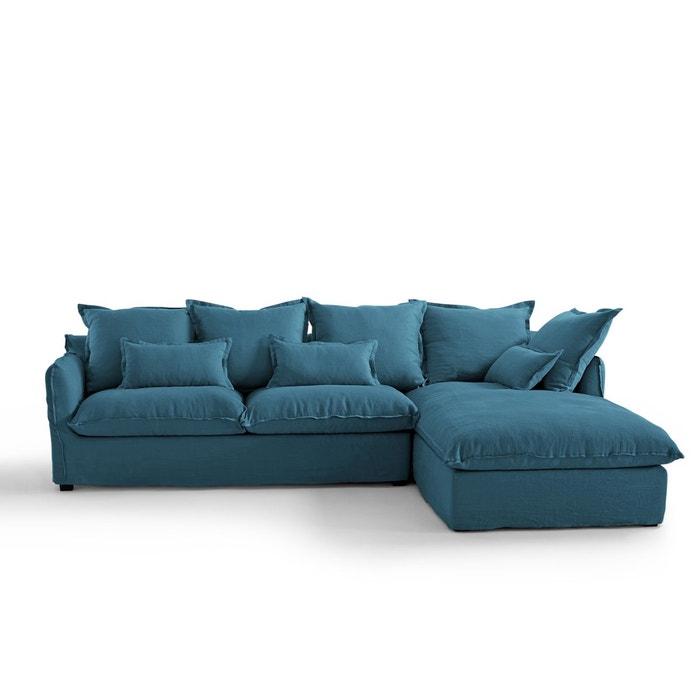 canap angle convert lin froiss bultex odna la redoute. Black Bedroom Furniture Sets. Home Design Ideas