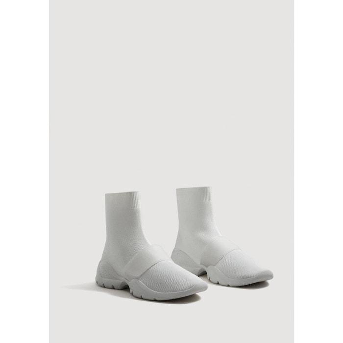 Tennis chaussettes semelle blanc Mango
