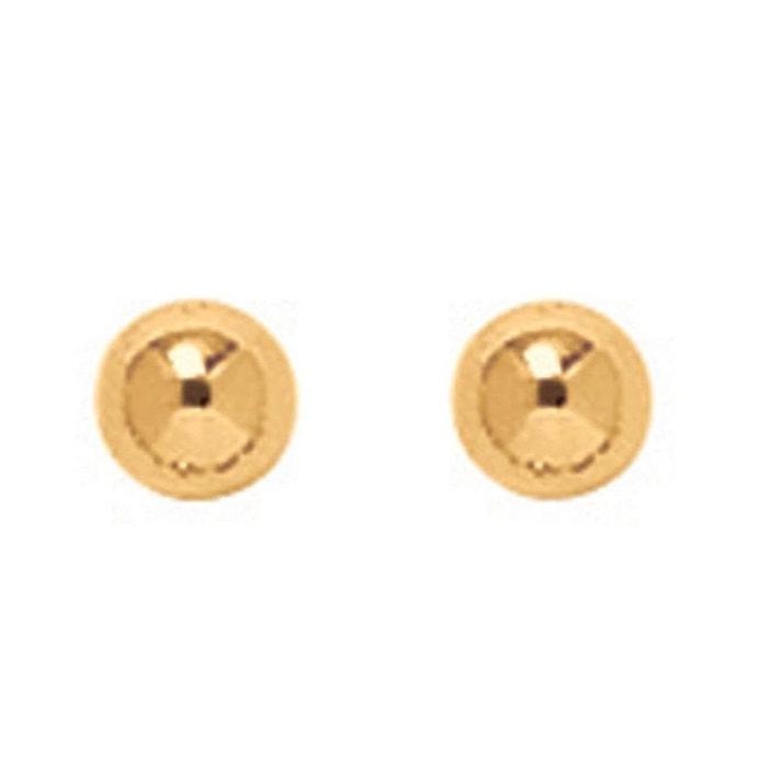 Boucles d'oreilles boule 4 mm or jaune 750/000 (18 carats) couleur unique So Chic Bijoux | La Redoute Meilleur Endroit La Vente En Ligne 9qMmQGpXM