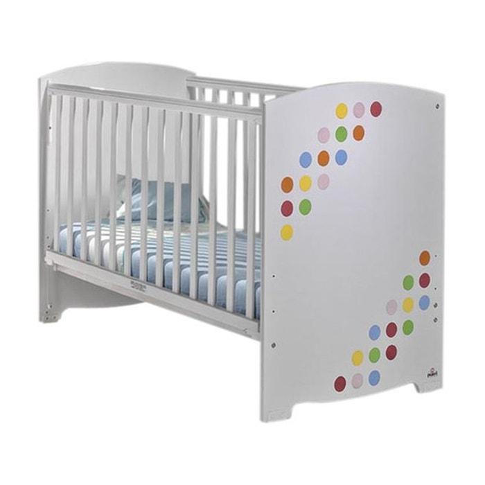 pack lit b b barri re coulissante avec matelas circus. Black Bedroom Furniture Sets. Home Design Ideas