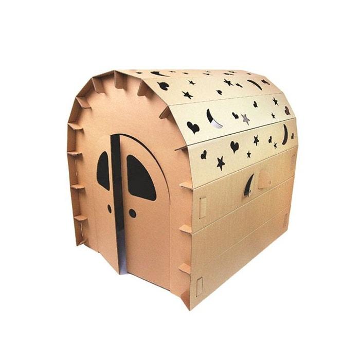 maison de jeu pour enfant en carton marron wadiga la redoute. Black Bedroom Furniture Sets. Home Design Ideas