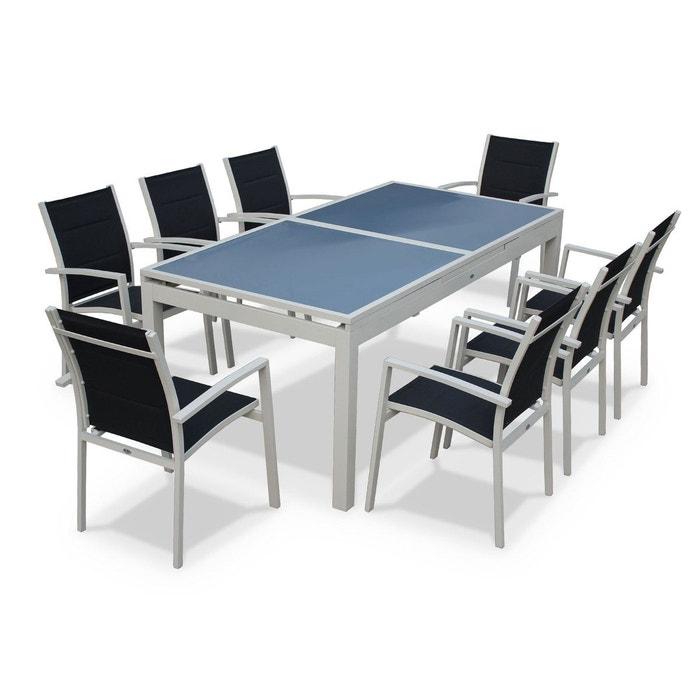 Salon de jardin 8 fauteuils table rallonge auto - Table de salon la redoute ...