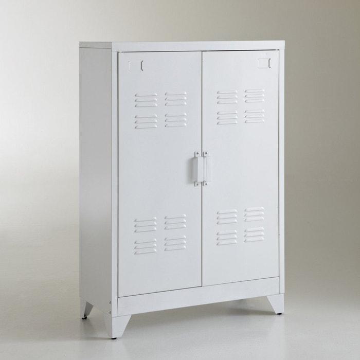 Armoire Basse 2 Portes En Metal Hiba La Redoute Interieurs La Redoute