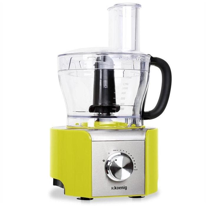 h koenig mx 18 robot de cuisine 8 fonctions mixeur 800w vert autre h koenig la redoute. Black Bedroom Furniture Sets. Home Design Ideas
