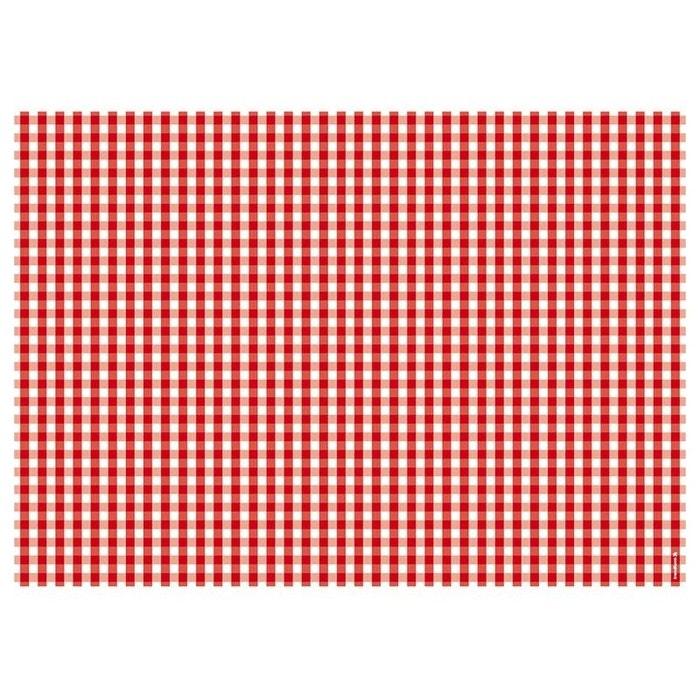 bloc de sets de table vichy rouge rouge et blanc pa design. Black Bedroom Furniture Sets. Home Design Ideas