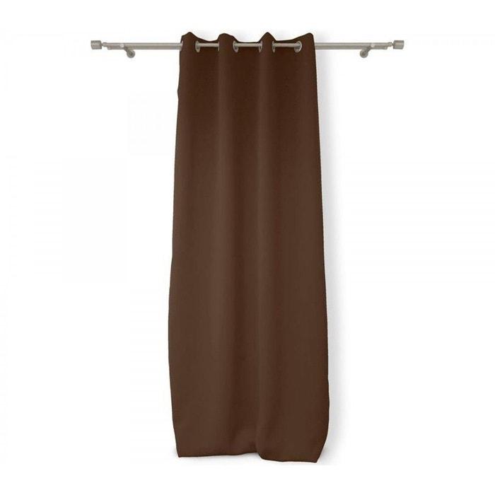 rideau occultant isolant chocolat marron terre de nuit la redoute. Black Bedroom Furniture Sets. Home Design Ideas