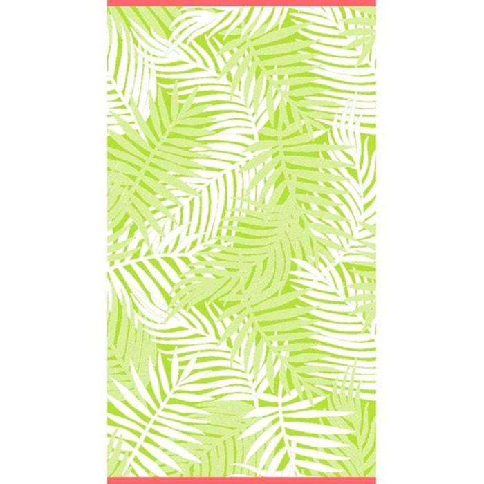 drap de plage velours palme vert vert lasa international la redoute. Black Bedroom Furniture Sets. Home Design Ideas