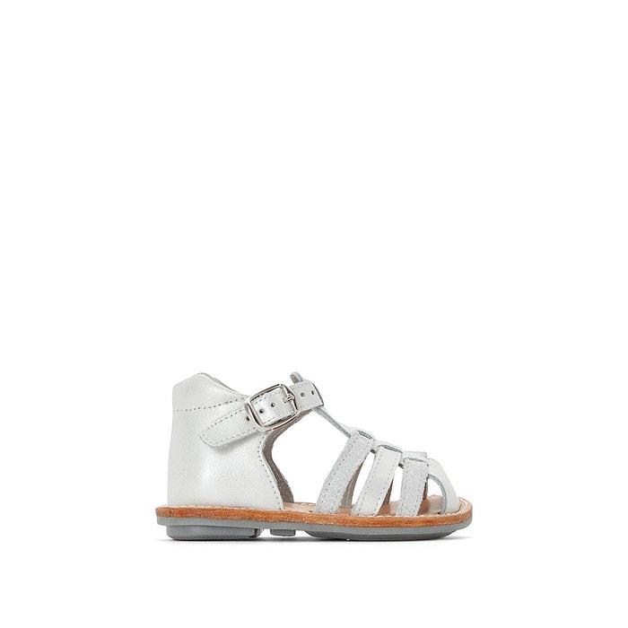 389d365a81dc0 Sandales cuir 19-25 blanc irisé La Redoute Collections