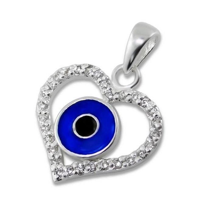 Pendentif coeur protection mauvais oeil oxyde de zirconium - Code promo la redoute livraison gratuite sans minimum d achat ...