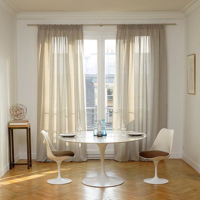 voilage galon fronceur polyester cinnamon gris clair. Black Bedroom Furniture Sets. Home Design Ideas