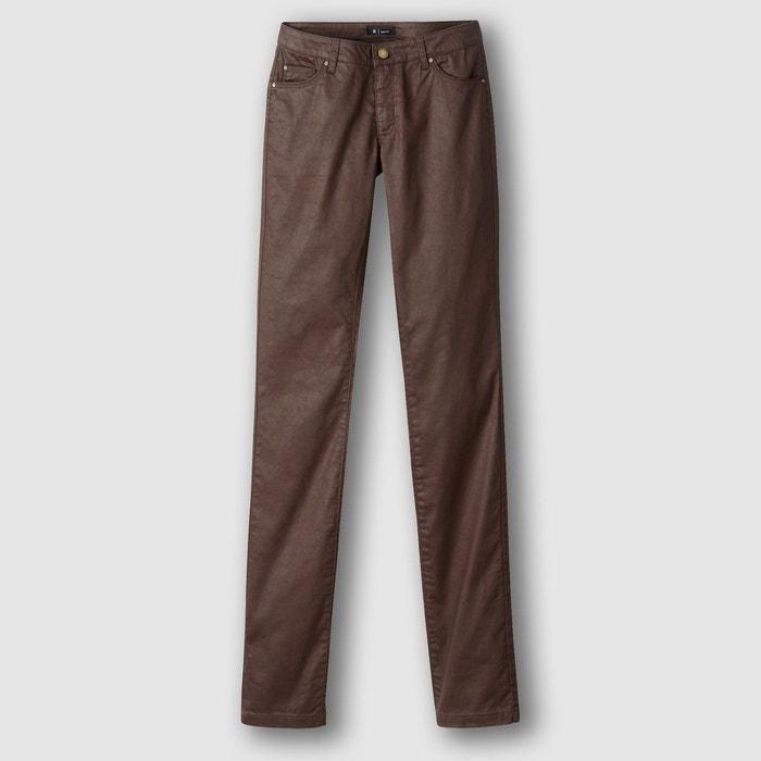 Pantalon droit enduit La Redoute Collections