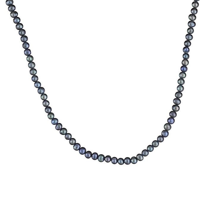 Collier femme longueur réglable: 40 à 45 cm perles de culture noires argent 925 couleur unique So Chic Bijoux   La Redoute Réduction Authentique Sortie UKIAO4i