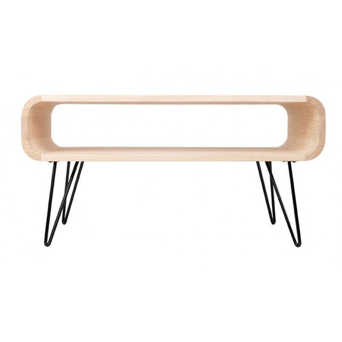 table basse en bois naturel et m tal m tro couleur unique zago la redoute. Black Bedroom Furniture Sets. Home Design Ideas