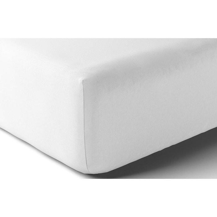 drap housse uni blanc blanc anne de solene la redoute. Black Bedroom Furniture Sets. Home Design Ideas