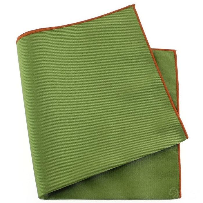 Pochette soie, vert mela, ourlet orange vert Tony Et Paul | La Redoute