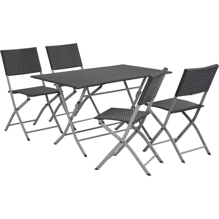 Salon de jardin en r sine tress e sydney atlanta - La redoute table de jardin en resine tressee ...
