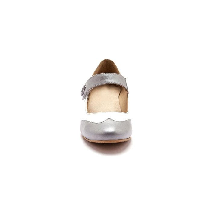 Babies bicolores, scratchées, en cuir Pediconfort