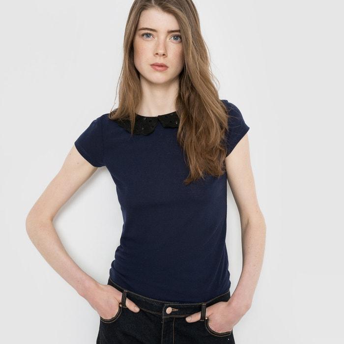 Image Embellished Collar T-Shirt MADEMOISELLE R