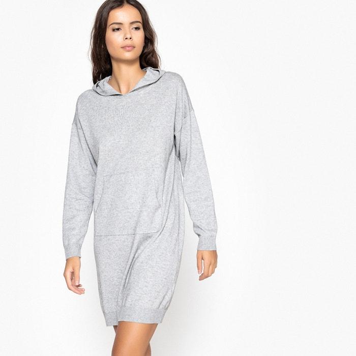 trui-jurk sweaterstijl met kap en kangeroezak la redoute collections