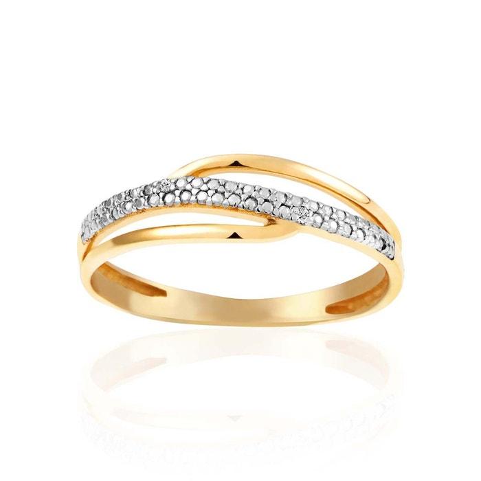 Bague or 375/1000 diamant blanc Cleor | La Redoute Le Plus Grand Fournisseur Pas Cher Grande Vente Sortie Le Plus Grand Fournisseur De Réduction Sortie Professionnelle nOHKGq