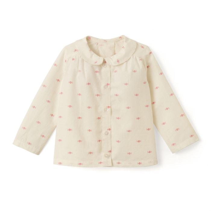 afbeelding Bedrukte blouse met Claudine kraag en lange mouwen La Redoute Collections