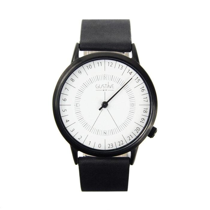 Montre 24h bracelet en cuir blanc Gustave Et Cie | La Redoute Vente Best-seller Prix De Vente À Bas Prix p5oH52D