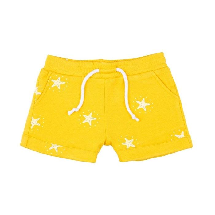 3e5cfe30ea3f5 Short soleil 100% coton bio jaune La Queue Du Chat   La Redoute