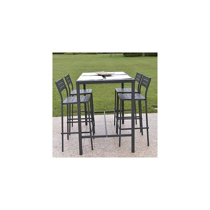 Table haute dorio 120x80 cm couleur unique rd italia la redoute - Table haute la redoute ...