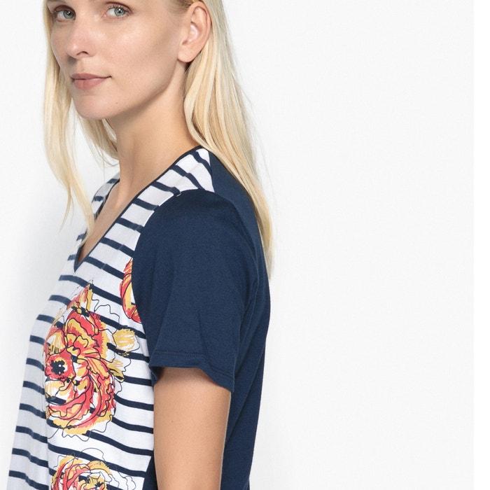ANNE WEYBURN Camiseta con 100 pico peinado algod 243;n de cuello estampada dPrqU4d1