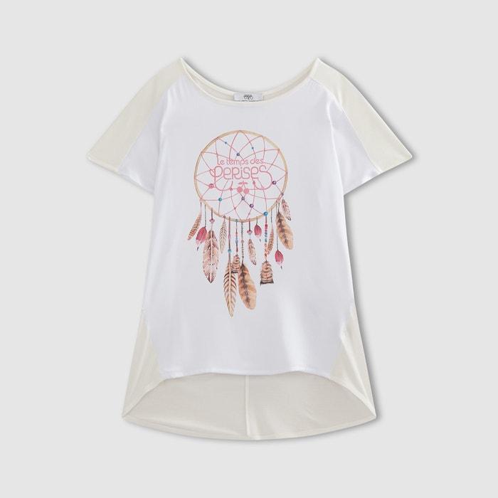 Image Dream Feather Print T-Shirt LE TEMPS DES CERISES