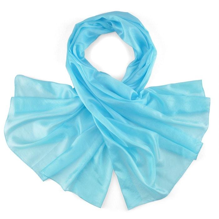 Etole soie bleu turquoise bleu Allee Du Foulard   La Redoute 3b0332a6d1d