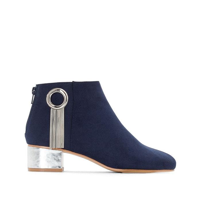 Boots détail bijou talon doré   La Redoute Collections   La Redoute