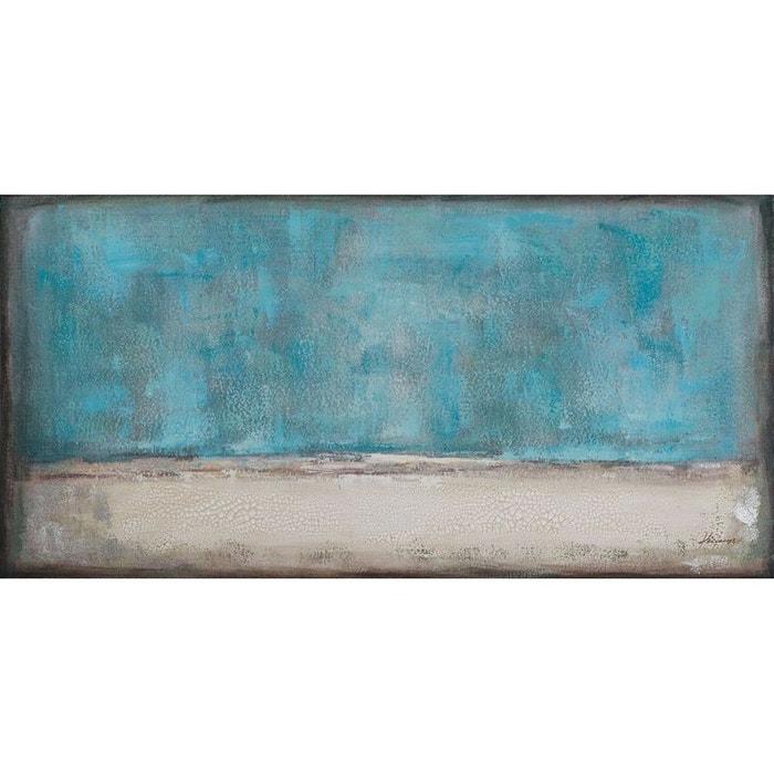 tableau abstrait 70x140 tons bleu et beige bleu pier import la redoute. Black Bedroom Furniture Sets. Home Design Ideas