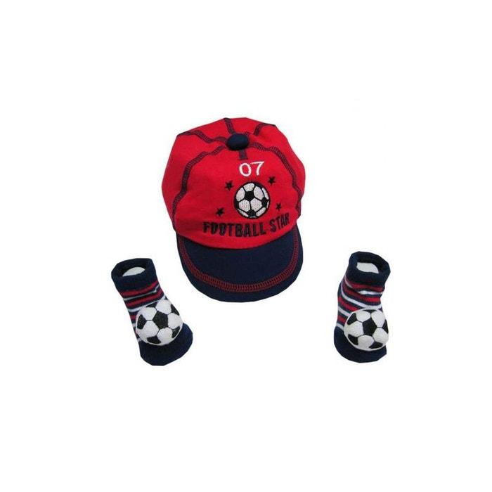 Casquette et chaussettes football pour bébé bleu Poussin Bleu   La Redoute 8f2e0f9cd2d